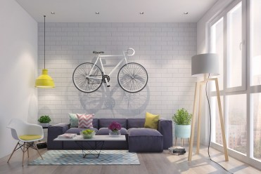 Exposed-brick-walls-high-lamp-hipster-living-room