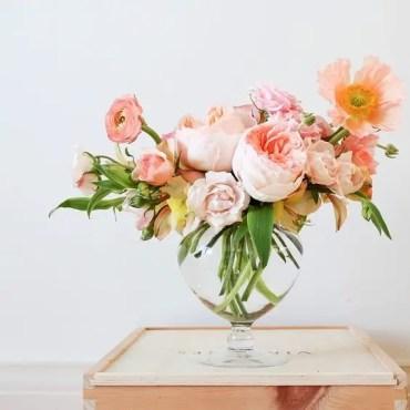 Peach-pink-vase