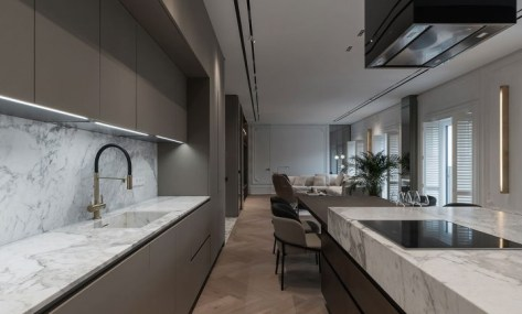 Apartment interior design for a single women with full of coziness and tender 4