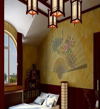 Bedroom with wall paintings Earth Tone Japanese Bedroom Ideas To Sooth Your Positive Energy