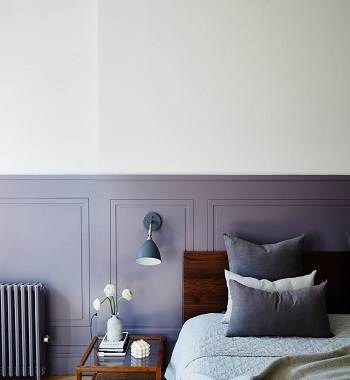 Cozy sedate purple paint Undeniably Soothing Earth-Tone Decorating Ideas