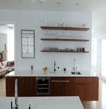 Focus floating Utilitarian Contemporary Kitchen Floating Shelves Ideas For Best Additional Storage