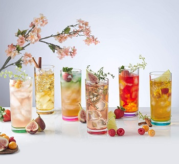 Joy jolt highball glasses Prettiest Colored Glassware You Can Definitely Add For Your Collection
