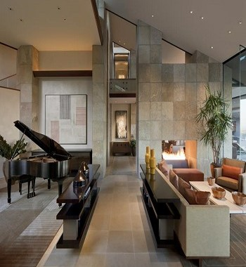 Luxurious earth tone living room Perfectly Blending Living Room Ideas With Earth-Tone Style
