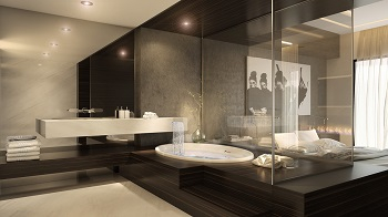 Luxury penthouse design with dramatic touches 7