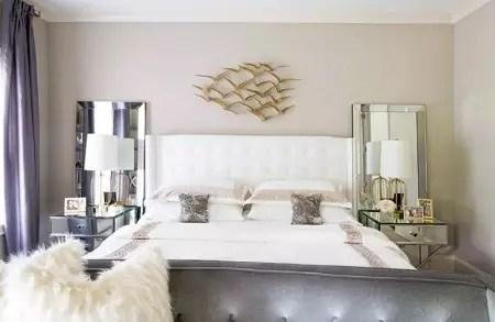 Metal bedroom with art deco style