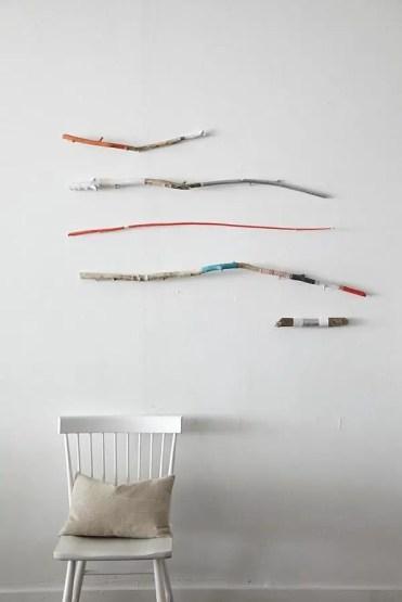 Painted-stick-wall-art