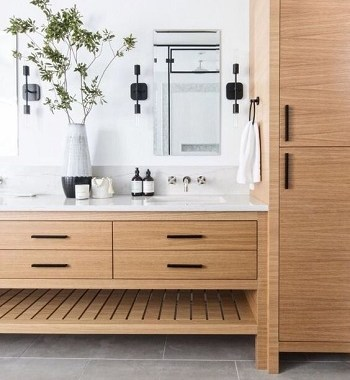 Sharp excellent cabinetry Most Enchanting Minimalist Bathroom Design Ideas To Have