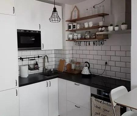 Small white kitchen decor