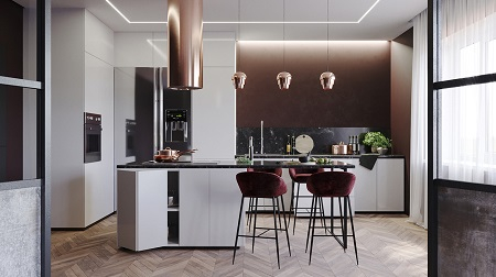 Splendid kitchen interior with warm mood for cozy evenings 1
