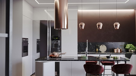 Splendid kitchen interior with warm mood for cozy evenings 2