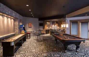 Dark-colored-basement-game-room