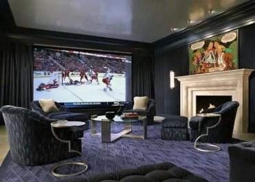 Home-theatre-room-guys-basement-man-cave-designs