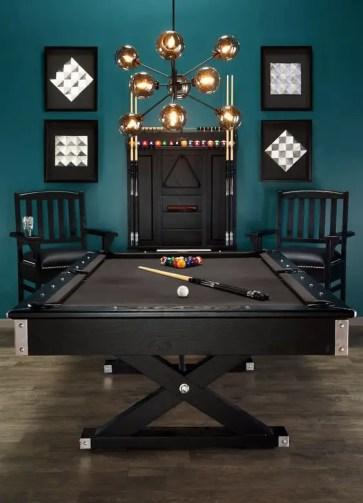 Stylish-pool-basement-game-room