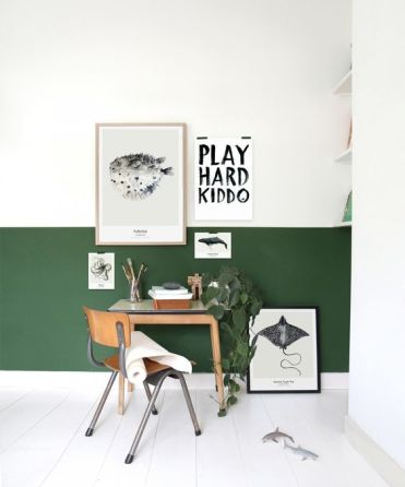 1-05-a-forest-green-and-white-color-block-wall-is-right-what-you-need-to-make-your-home-office-bolder