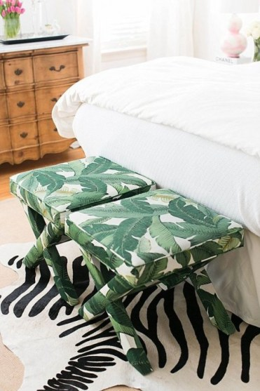 1-08-tropical-leaf-fabric-upholstered-stools-will-create-a-bold-and-bright-accent-in-your-space-and-add-glam