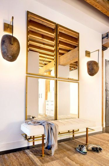 2-05-a-combo-of-four-same-mirrors-for-the-entryway-looks-chic-modern-and-welcoming