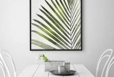 2-25-a-framed-palm-leaf-print-for-a-scandinavian-dining-room