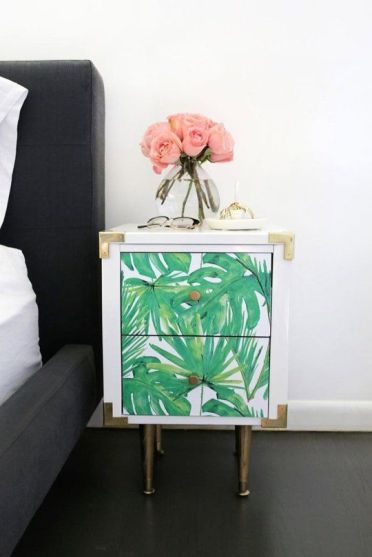 26-a-tropical-leaf-nightstand-with-chic-metallic-touches
