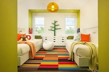 Tappeto luminoso e bellissimo con un fascino multicolore