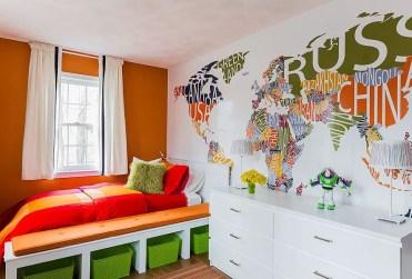 Custom-designed-world-map-wall-mural