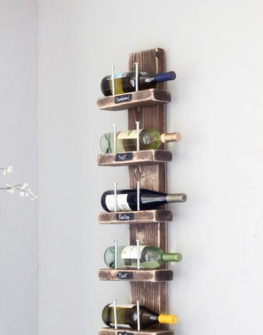 Diy-wood-and-hex-bolt-wall-wine-rack