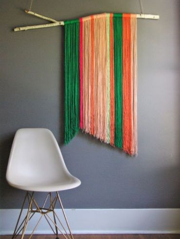Diy-yarn-wall-art-hanging