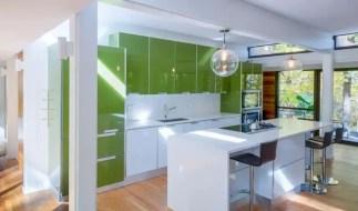 Green glossy cabinet
