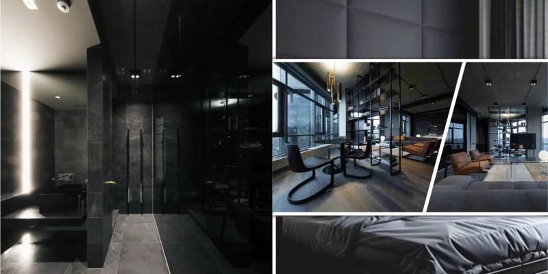 Picturesque apartment design with dark masculine interior 2