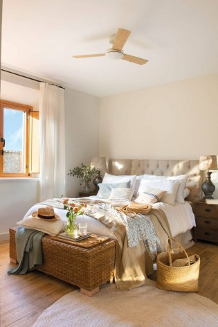 Spring bedroom with rustic touches