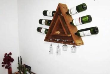 Triangular-pallet-wine-rack