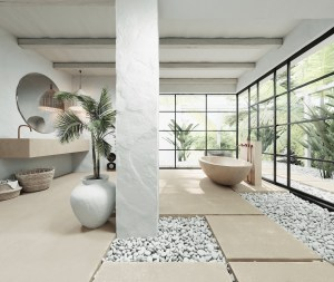 Vast bathroom design with naturally inspired adventure for a serenity atmosphere 2