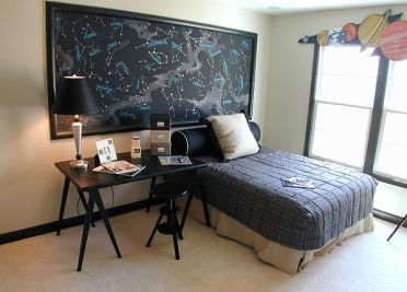 Bedroom-decoration-with-a-space-theme