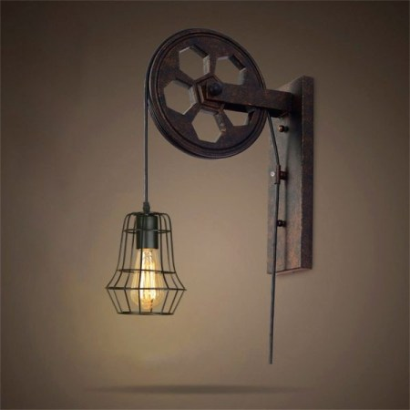 Pulley-lamp-wall-for-warehouse-lighting