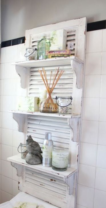 10-whitewashed-shabby-chic-shutters-with-shelves-will-add-a-soft-charming-touch-to-the-bathroom