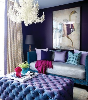 24-violet-and-teal-glam-living-room-with-a-unique-chandelier-and-a-crazy-artwork