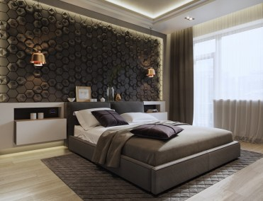 Beehive-tile-design-sconces-feature-bedroom-accent-wall-patterns-1