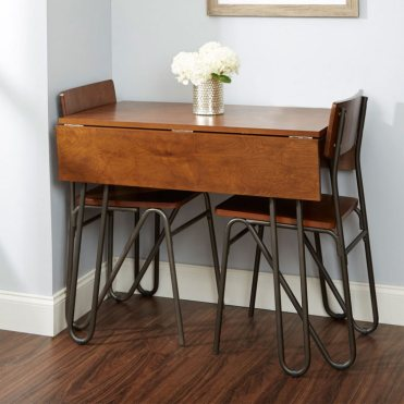 Drop-leaf-console-transforming-dining-table-space-saving-kitchen-furniture