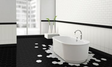 2-stunning-black-and-white-bathroom-with-hexagonal-tiles