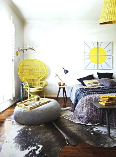 5-23-bright-yellow-touches-including-a-peacock-chair-in-the-corner-make-this-grey-bedroom-bold-and-sunshine-filled
