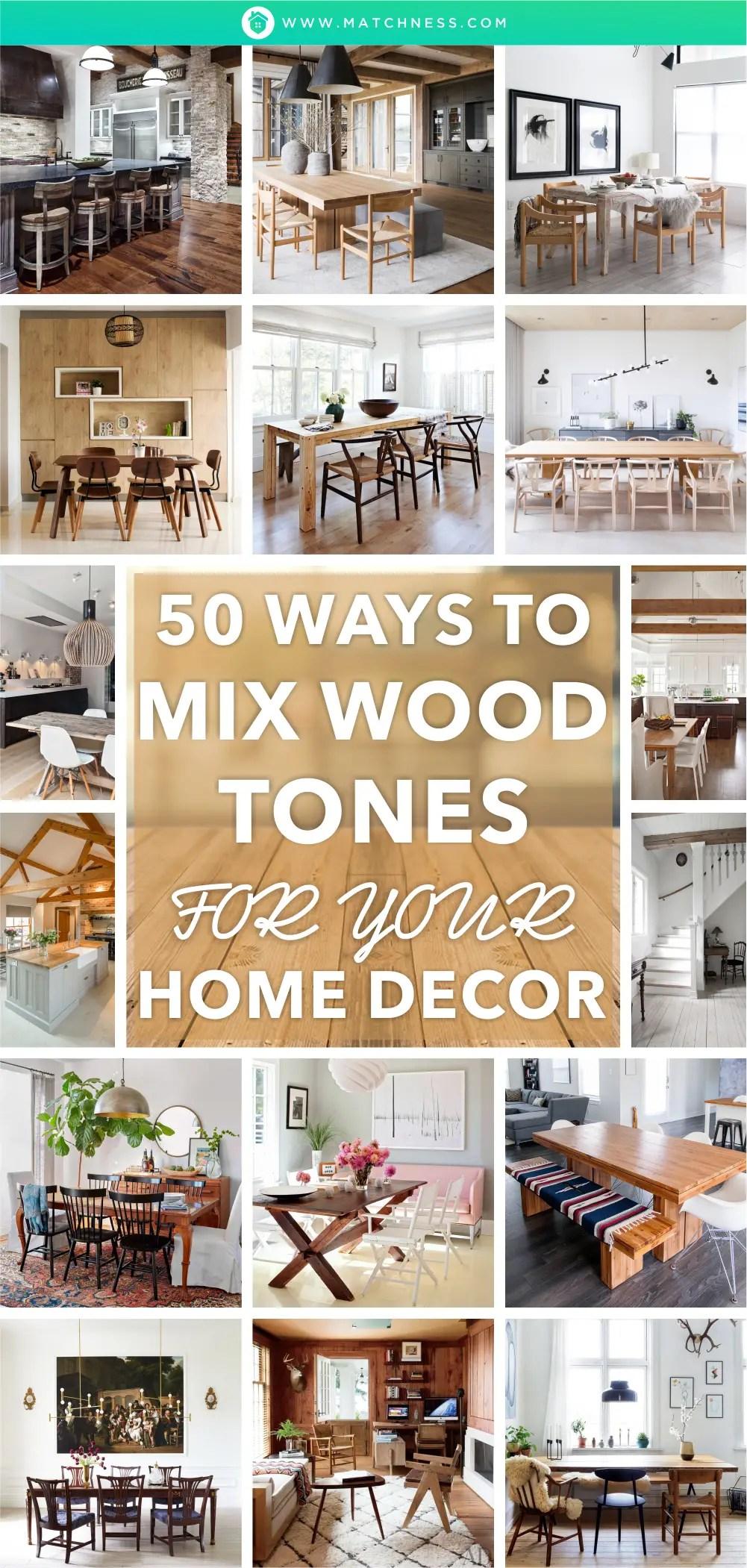 50 modi per mescolare i toni del legno per la tua casa