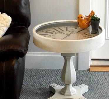 Diy-pedestal-clock-end-table
