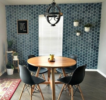 Honeycomb_hexagon_wallpaper_mid_century_modern_stencils_wall_stencils_for_painting_dining_room_wall_decor