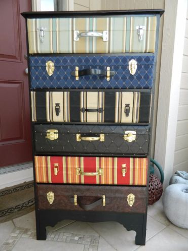 Suitcase-dresser