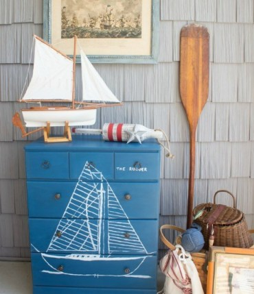Nautical-dresser-with-blue-print