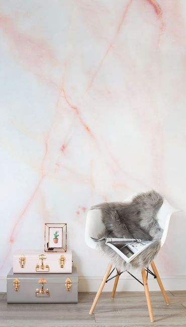 02-coral-marble-wall-mural-is-a-great-idea-to-make-a-plain-wall-stunning-and-trendy