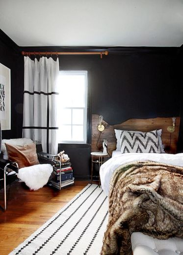 07-a-live-edge-headboard-is-a-trendy-idea-that-brings-a-boho-and-rustic-feel-to-the-space-rock-one-for-sure