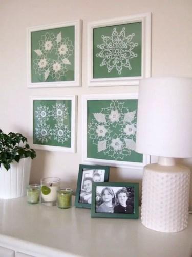 1-framed-doilies-as-wall-art