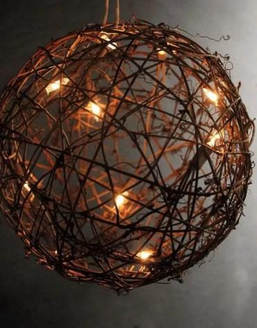 Wicker twig light ball