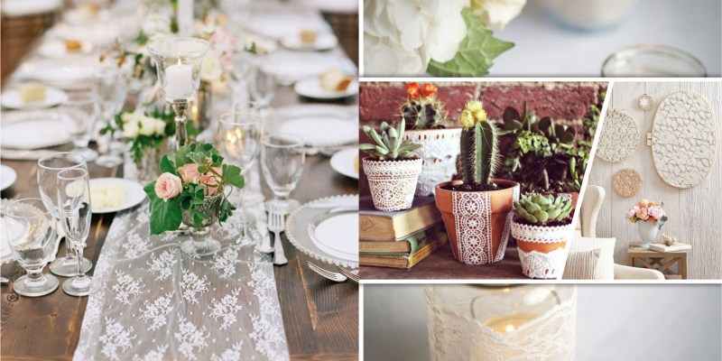 Presenting lace to give a pretty touch to your home2